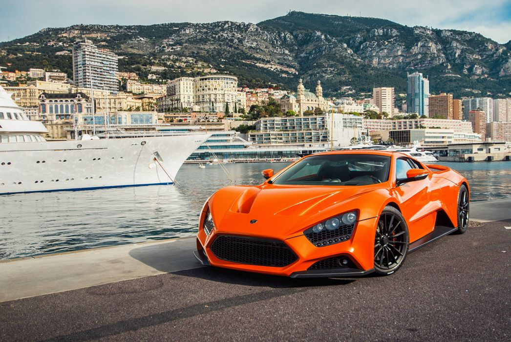 2009 Zenvo ST1 tours Monaco supercar car sports orange city europe wallpaper