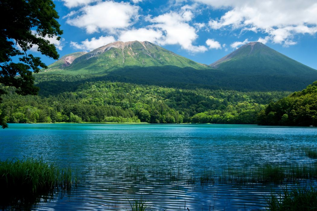 Scenery Lake Mountains Forests Nature wallpaper