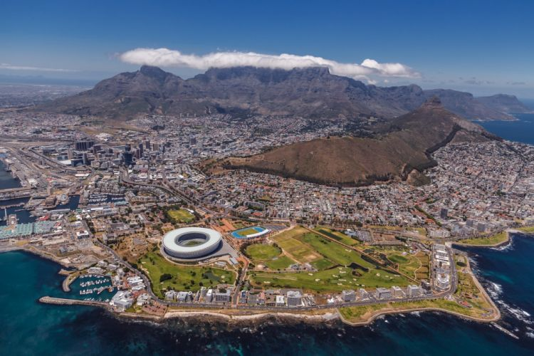 South Africa Cape Town view wallpaper