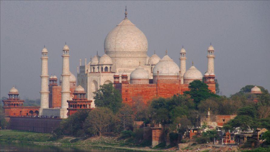 Taj Mahal India Cities wallpaper