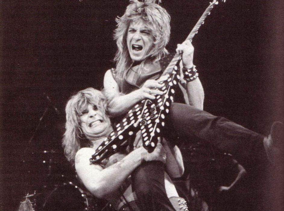 RANDY RHOADS Ozzy Osbourne Heavy Metal Randy Rhoads Guitar Concert Wallpaper
