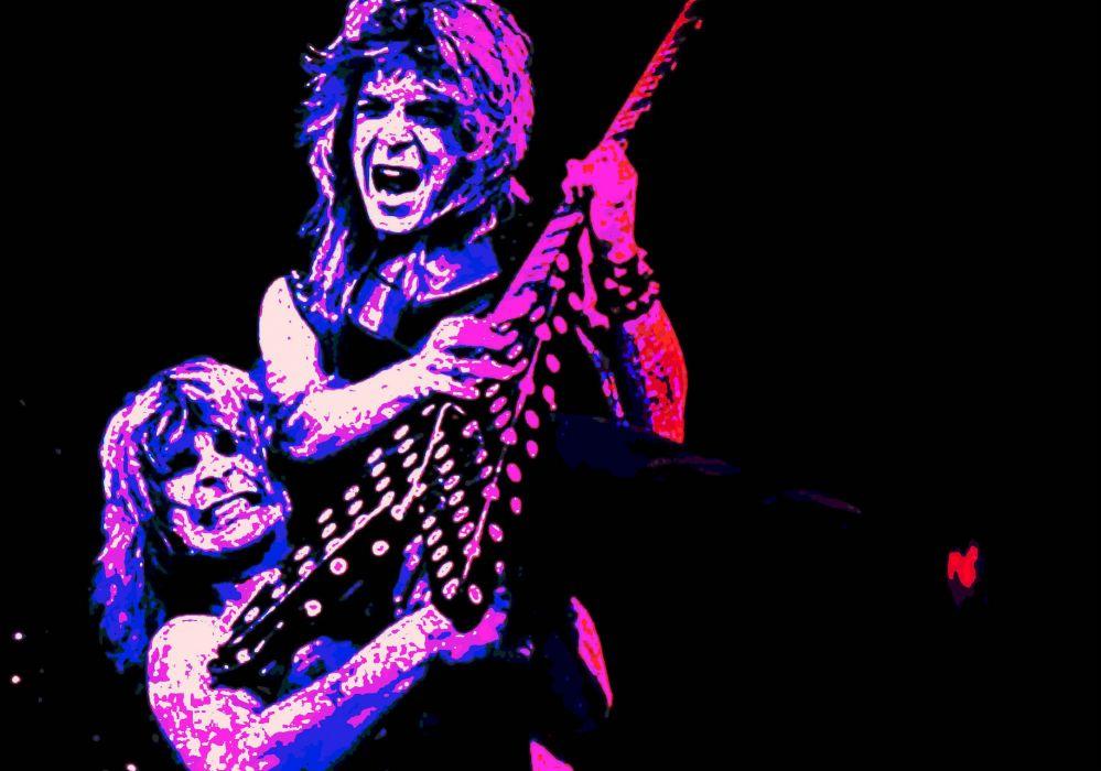 RANDY RHOADS Ozzy Osbourne Heavy Metal Randy Rhoads Guitar Concert Wallpaper