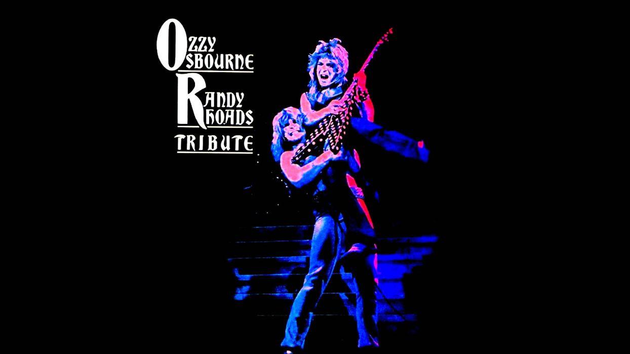 RANDY RHOADS Ozzy Osbourne Heavy Metal Randy Rhoads Guitar Concert Poster Wallpaper