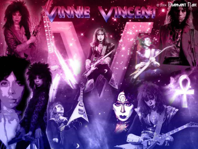 KISS VINNIE-VINCENT invasion heavy metal guitar vinnie vincent wallpaper