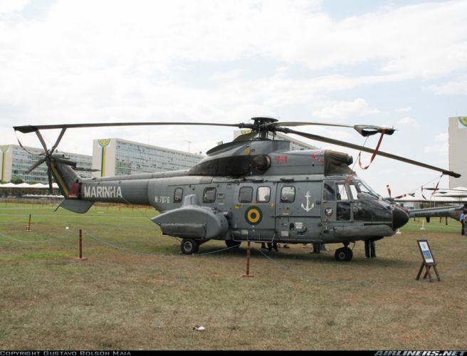 helicopter aircraft transport rescue military navy Brazil super puma wallpaper