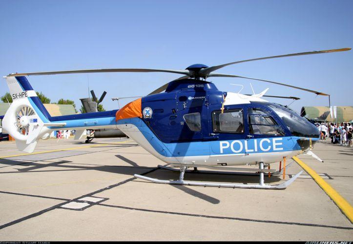 helicopter aircraft police Greece eurocopter ec-135 wallpaper