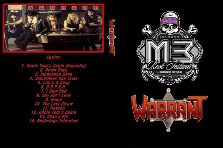 WARRANT hair metal heavy poster wallpaper