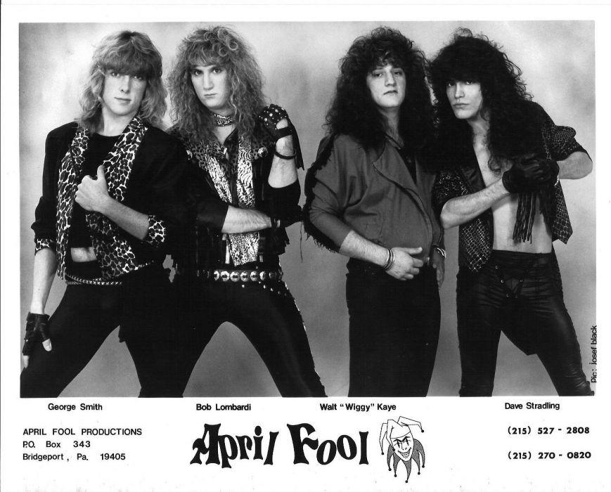 APRIL FOOL hair metal heavy poster wallpaper
