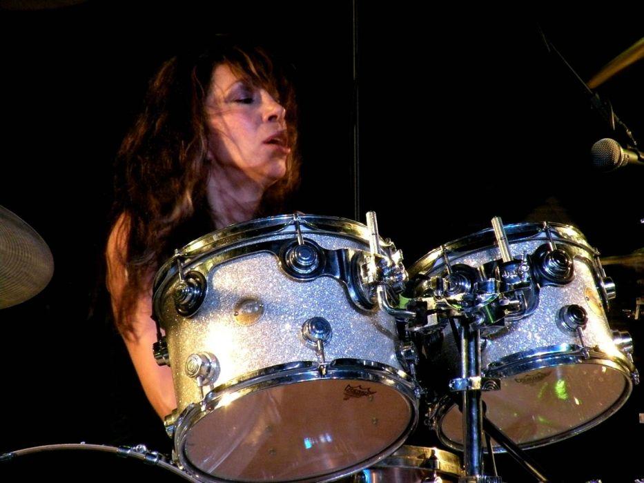VIXEN hair metal heavy girl female concert drums wallpaper