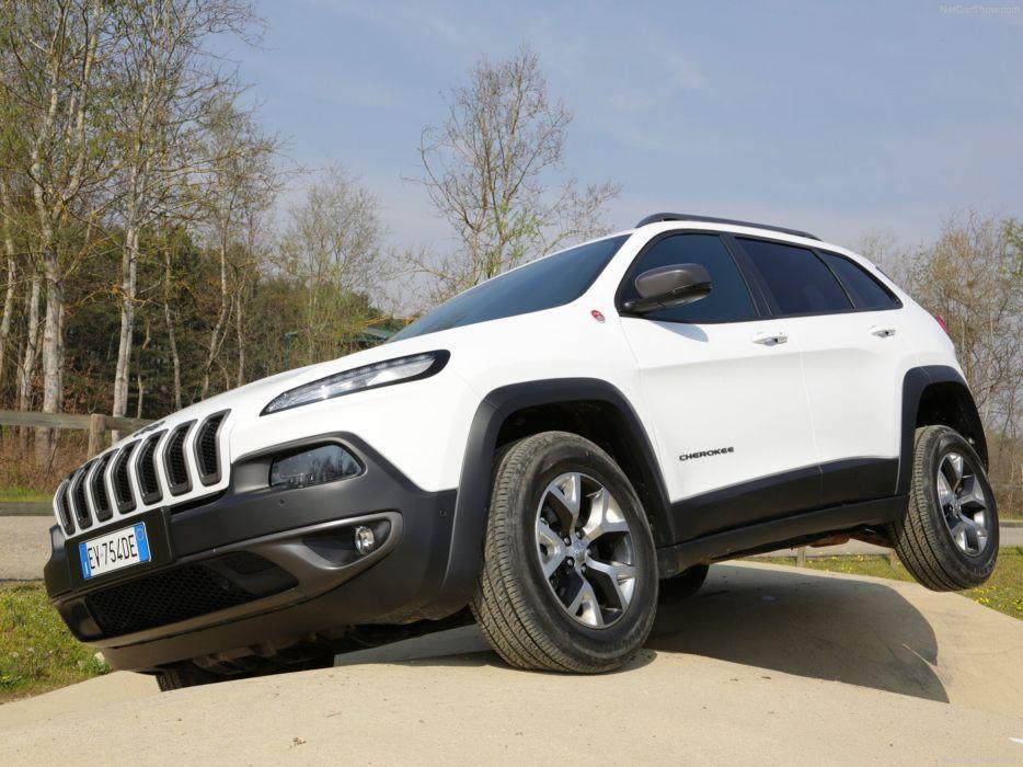 Jeep Cherokee EU-Version 2014 white car suv 4x4 off-road 4000x3000 wallpaper
