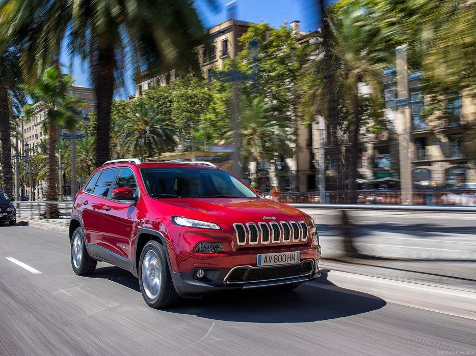 Jeep Cherokee EU-Version 2014 car suv 4x4 off-road 4000x3000 red wallpaper