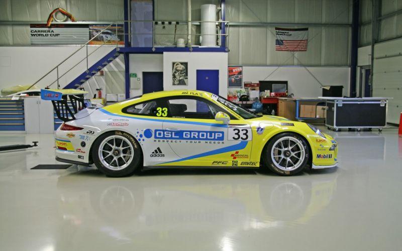 2014 Molitor Racing Systems Porsche 911-GT3 Cup Yellow Car Supercar Race 4000x2500 wallpaper