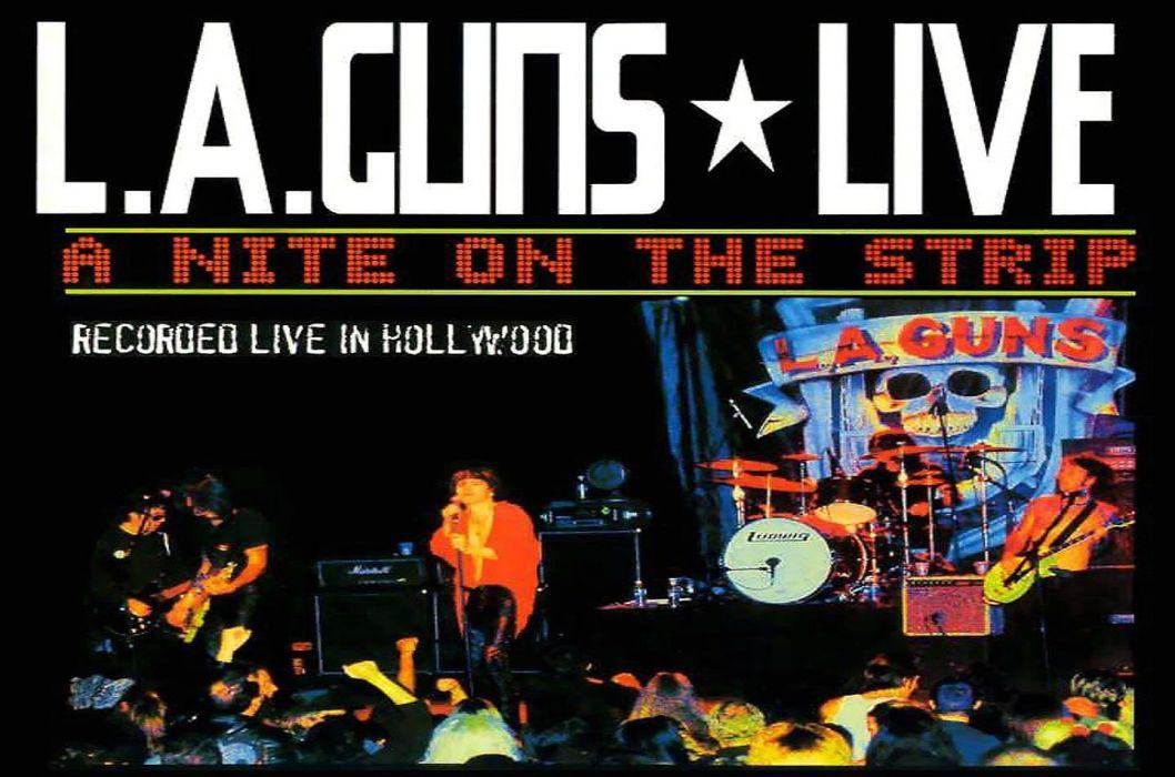 LA-GUNS hair metal heavy guns poster concert wallpaper