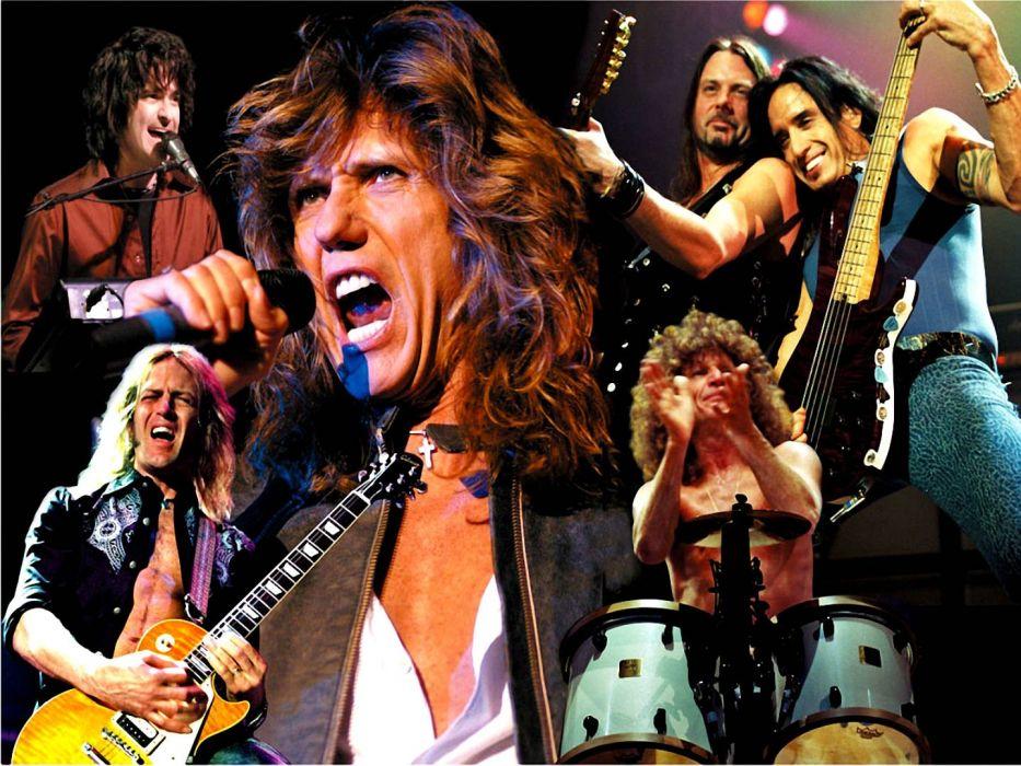 WHITESNAKE hair metal heavy hard rock concert wallpaper