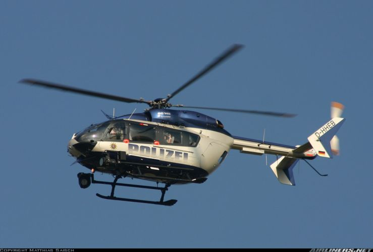 helicopter aircraft police Germany eurocopter ec-145 wallpaper