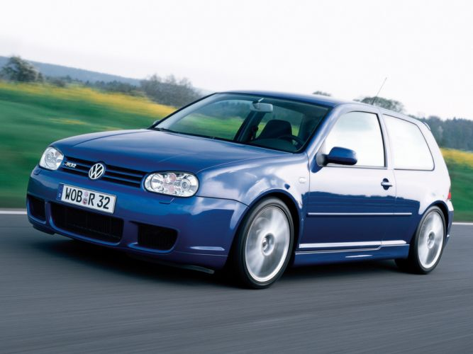 2002 Volkswagen Golf R32 car Germany blue 4000x3000 wallpaper