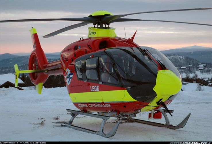 helicopter aircraft ambulance rescue Norway eurocopter ec-135 wallpaper