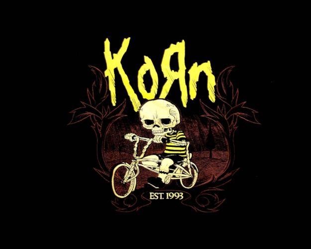 KORN nu-metal metal heavy rock hip hop poster dark skeleton skull wallpaper