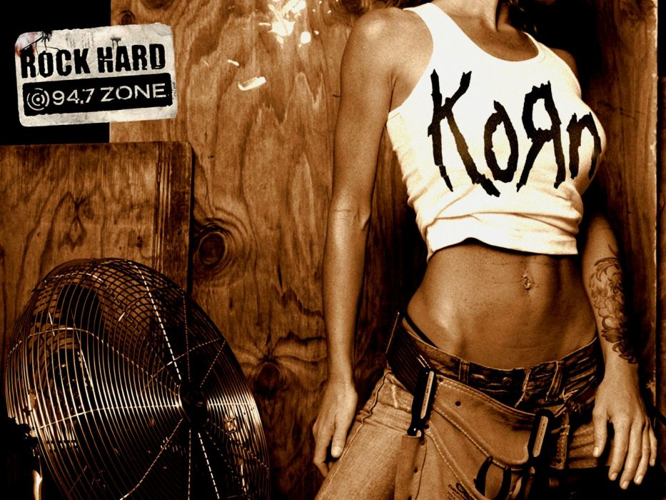KORN nu-metal metal heavy rock hard poster sexy babe wallpaper