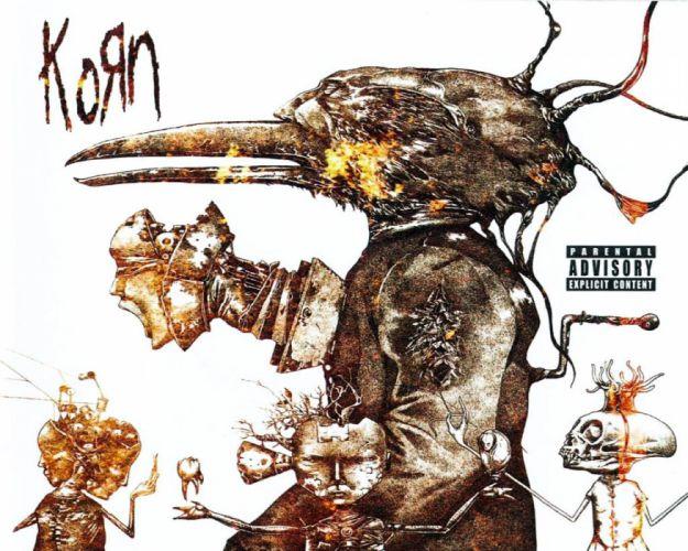 KORN nu-metal metal heavy rock hard poster dark skull skeleton wallpaper