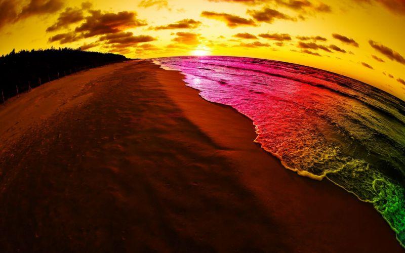 rainbow beach wallpaper