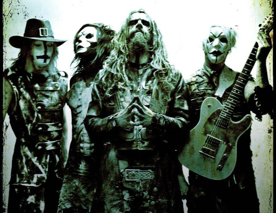 ROB-ZOMBIE industrial metal heavy white-zombie rob zombie white (3) wallpaper