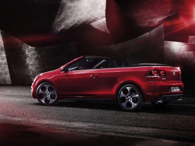 2012 Volkswagen Golf GTI Cabriolet Car Red Convertible 4000x3000 wallpaper