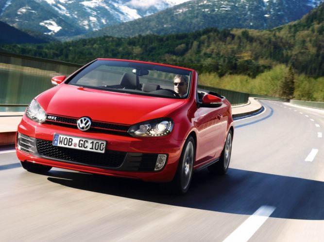 2012 Volkswagen Golf GTI Cabriolet Car Red Convertible 4000x3000 wallpaper