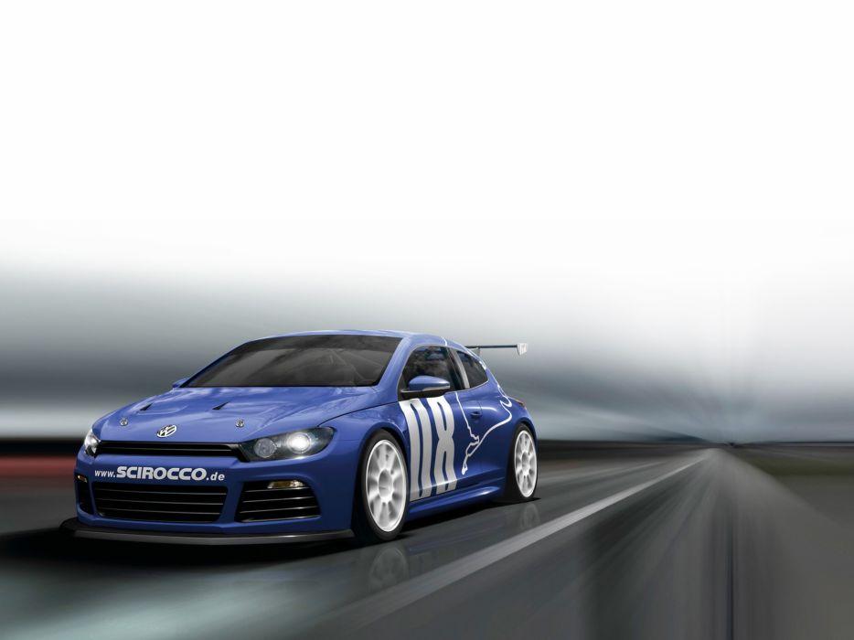 2008 Volkswagen Scirocco GT24 Race Car Racing Blue 4000x3000 wallpaper