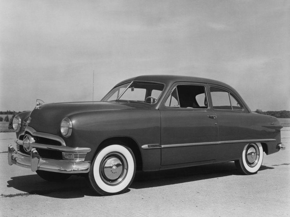 1950 Ford Custom Deluxe Tudor Sedan (70B) retro   h wallpaper
