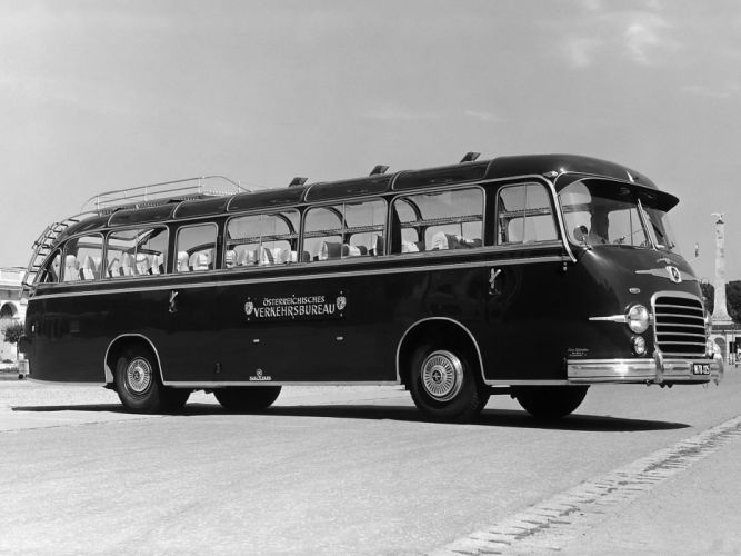 1955 Setra S10 Bus transport semi tractor retro g wallpaper