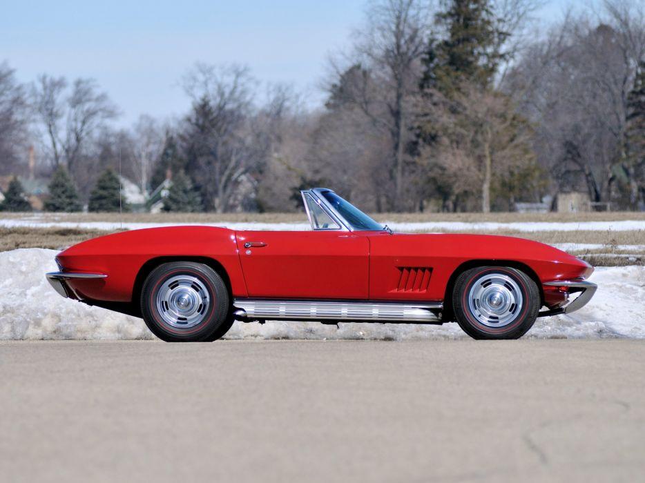 1967 Chevrolet Corvette Sting Ray L75 327 300HP Convertible (C-2) stingray supercar muscle  d wallpaper
