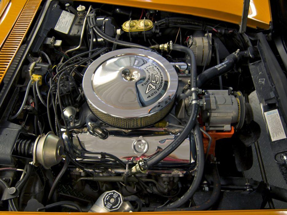 1971 Chevrolet Corvette Stingray ZR-2 LS6 454 Convertible (C-3) supercar muscle classic engine    f wallpaper