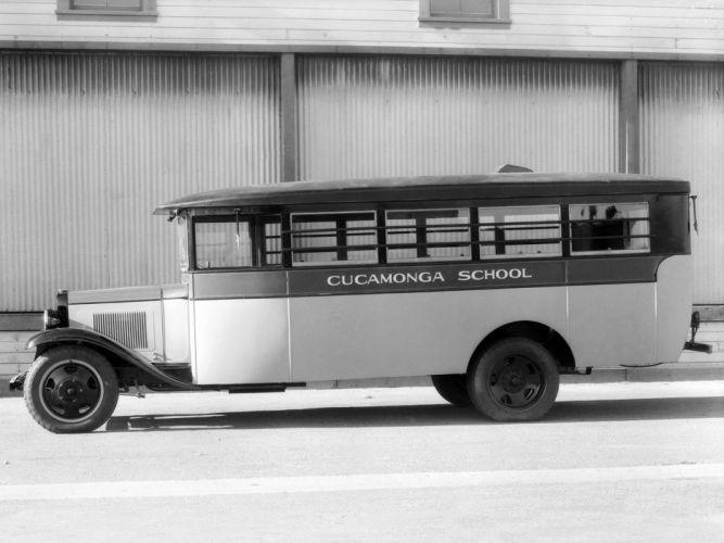 1931 Chevrolet Model-MD School Bus Crown Motor Carriage retro semi tractor f wallpaper