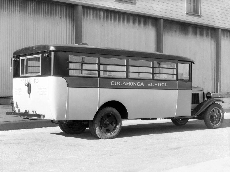 1931 Chevrolet Model-MD School Bus Crown Motor Carriage retro semi tractor   e wallpaper