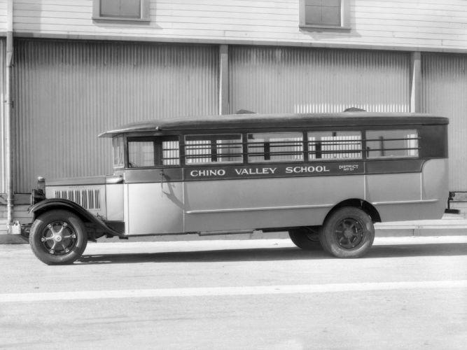 1931 Studebaker S-series School Coach Crown Motor Carriage bus transport retro semi tractor g wallpaper