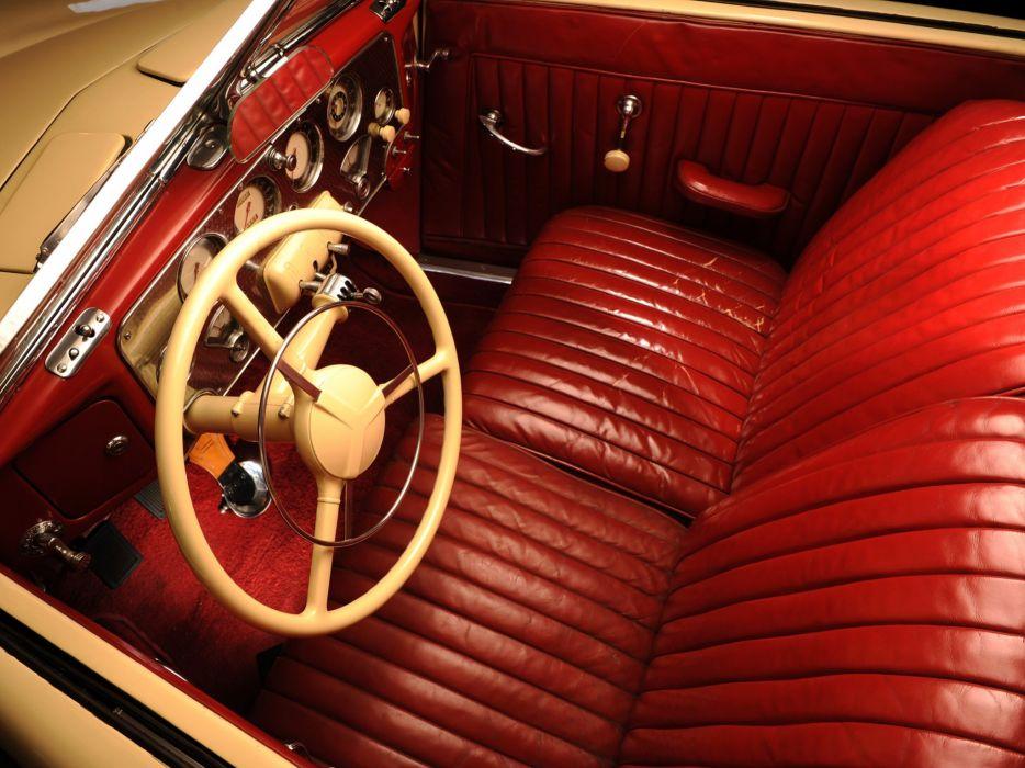 1937 Cord 812 Supercharged Convertible Phaeton Sedan (C91-FC) retro interior  f wallpaper