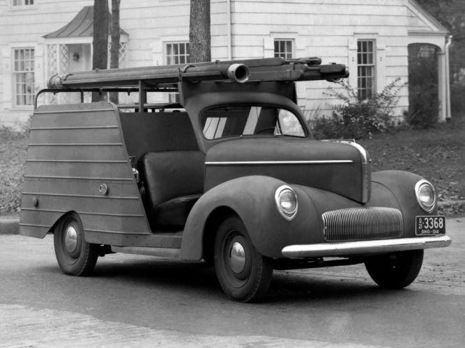 1941 Willys Americar Fire Pumper Twin Coach firetruck emergency retro s wallpaper