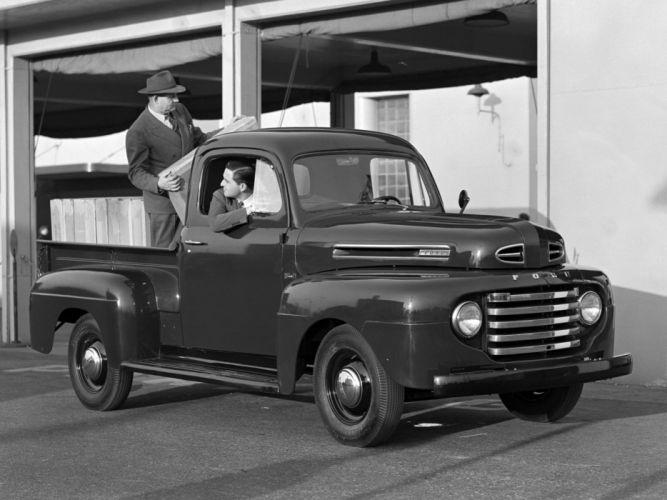 1948aei50 Ford F-1 Pickup (83) retro t wallpaper