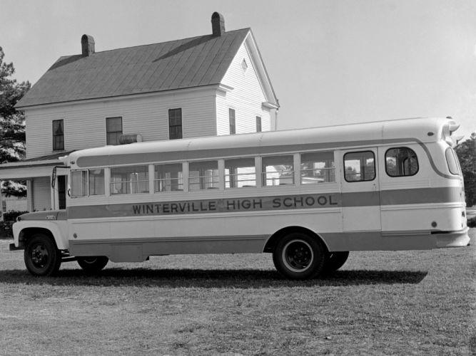 1964 Thomas Conventional Ford B-600 bus school transport classic f wallpaper