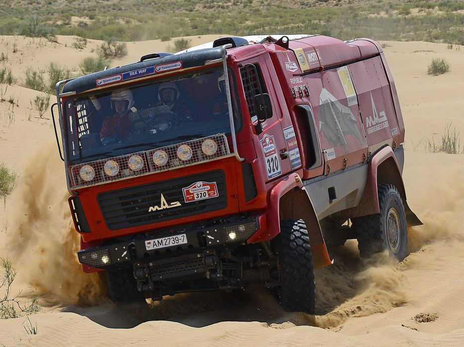2010 MAZ 5309RR Rally race racing semi tractor 4x4 offroad      f wallpaper