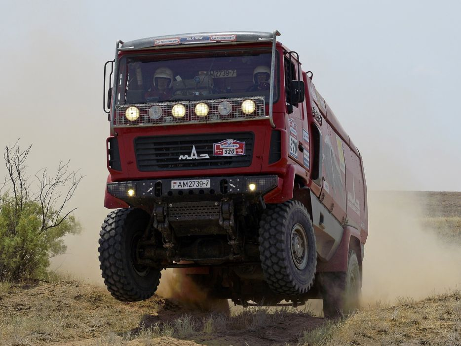 2010 MAZ 5309RR Rally race racing semi tractor 4x4 offroad   d wallpaper