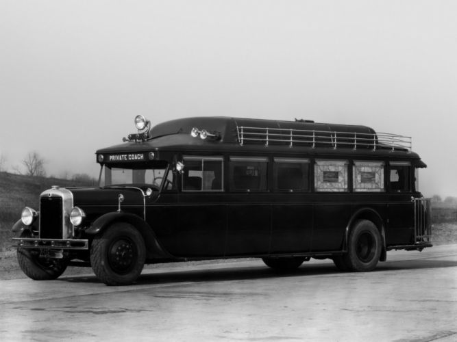 1929 Yellow Coach Z-250 Carcajou transport bus retro semi tractor f wallpaper