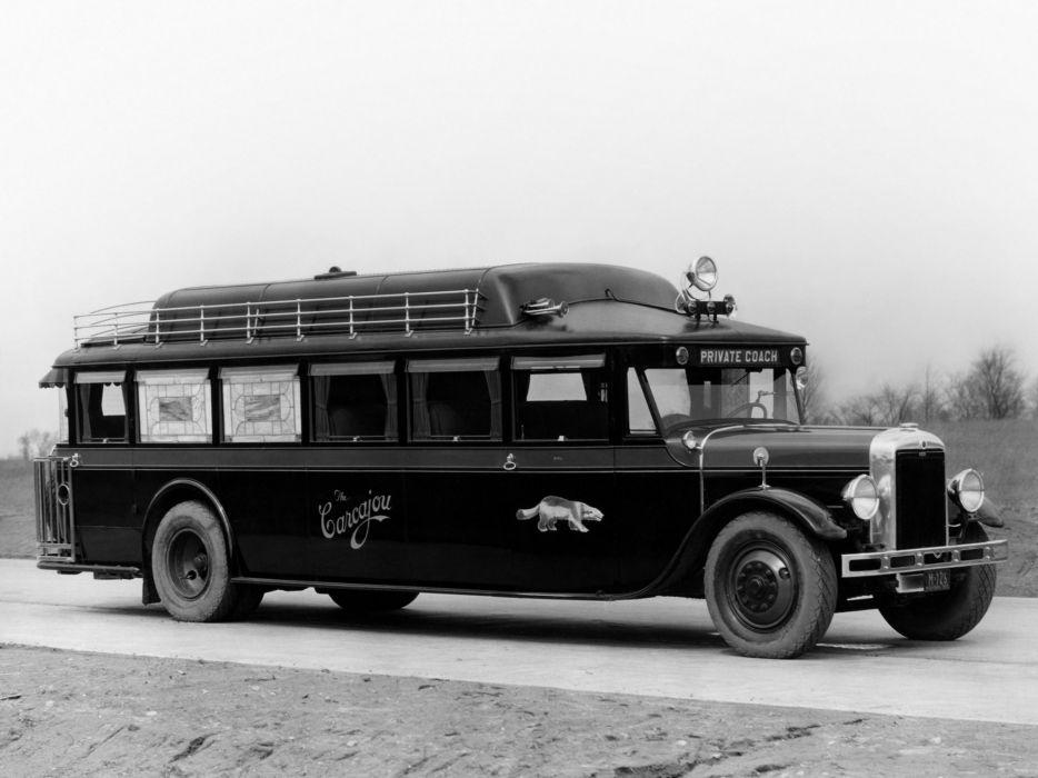 1929 Yellow Coach Z-250 Carcajou transport bus retro semi tractor    g wallpaper