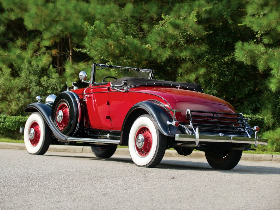 1931 Cadillac 370-A V12 Convertible Coupe Fleetwood (4735) luxury retro da wallpaper