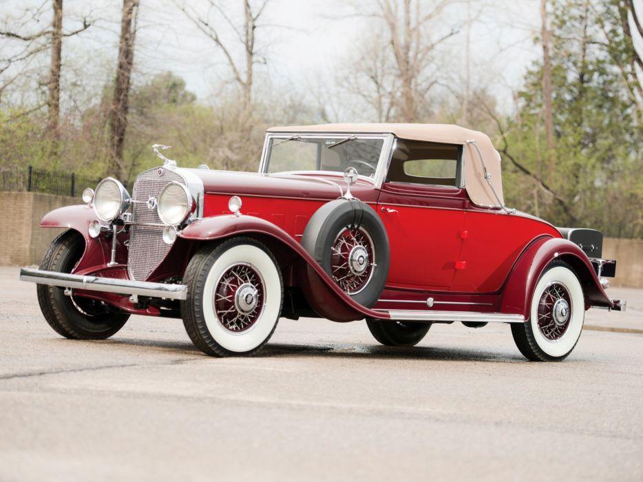 1931 Cadillac 370-A V12 Convertible Coupe Fleetwood (4735) luxury retro f wallpaper