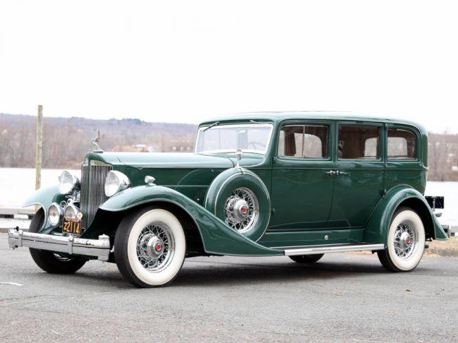 1933 Packard Super Eight 7-passenger Sedan (1004-654) luxury retro r wallpaper