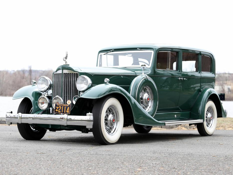 1933 Packard Super Eight 7-passenger Sedan (1004-654) luxury retro  df wallpaper