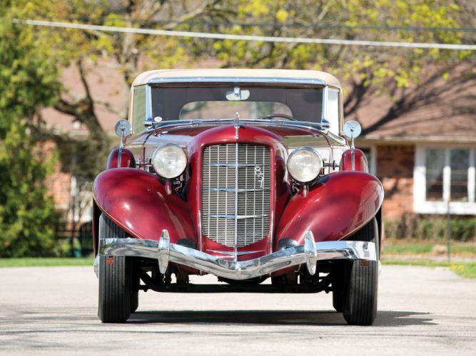 1935 Auburn 851 Custom Dual Ratio Coupe retro rt wallpaper