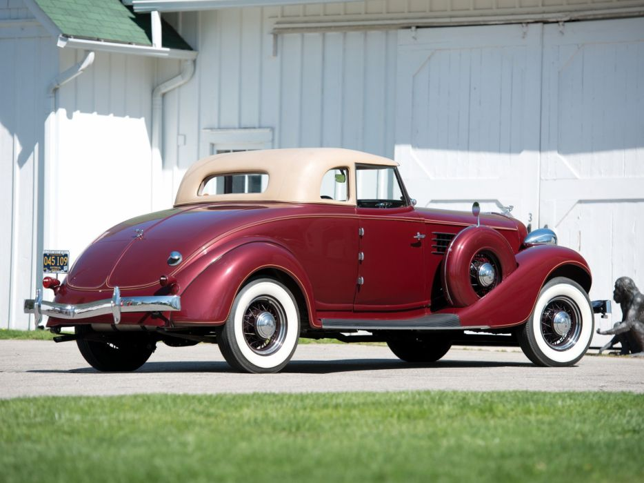 1935 Auburn 851 Custom Dual Ratio Coupe retro       h wallpaper